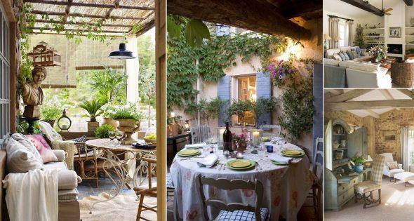 Стиль прованс в интерьерах загородных домов