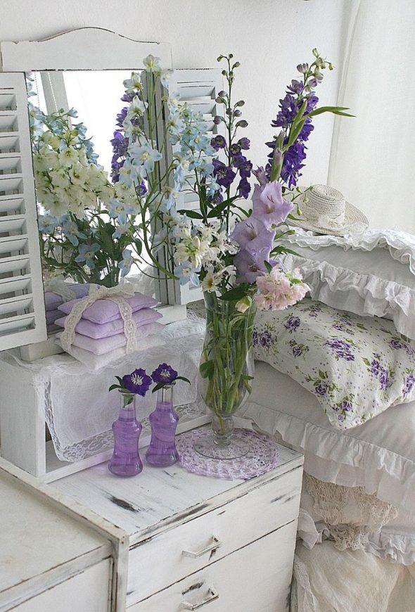 Цветочный декор в стиле прованс