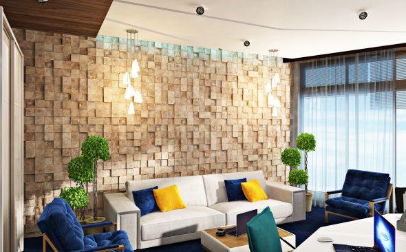 3D-панели на стене