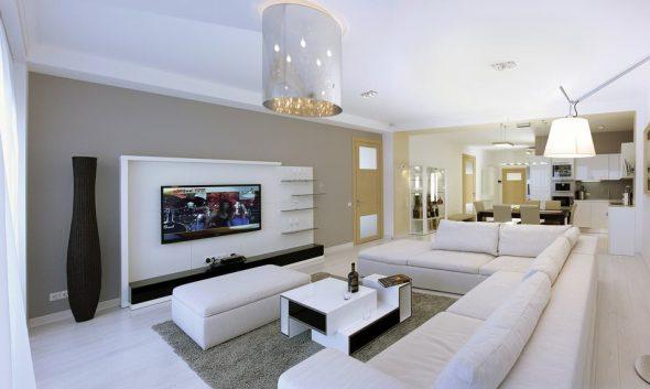 Современный дизайн гостиной в доме