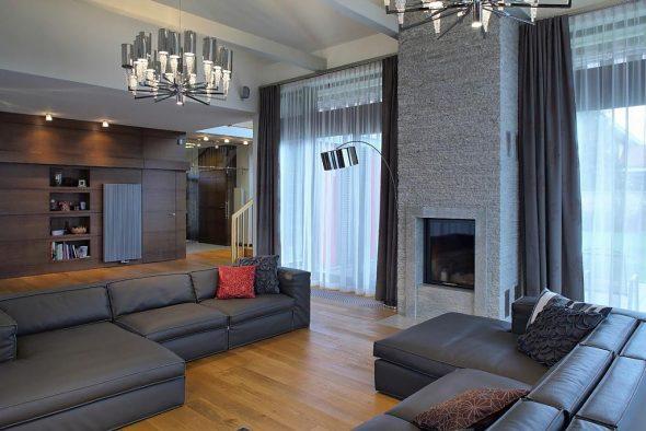 Дизайн интерьера в современном загородном доме