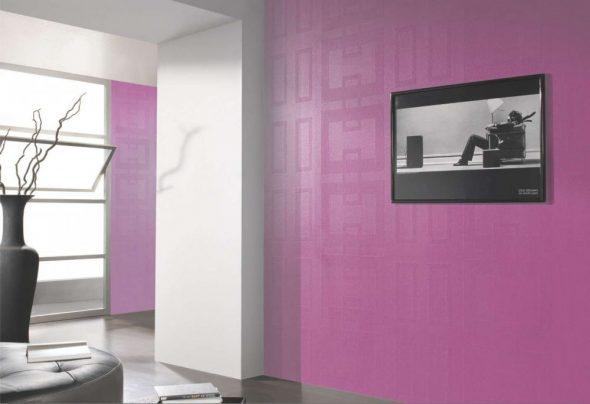 Стеклообои фиолетого цвета