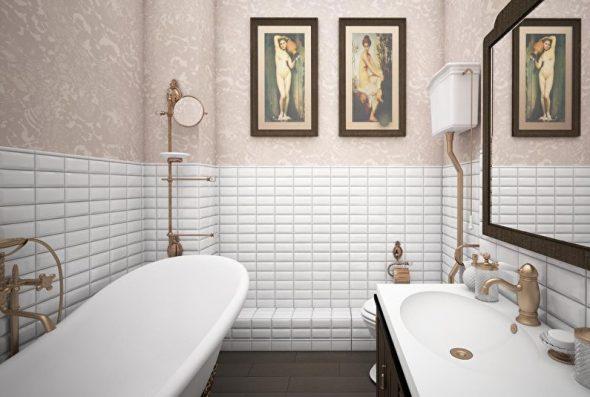 Отделка стен стеклообоями в ванной