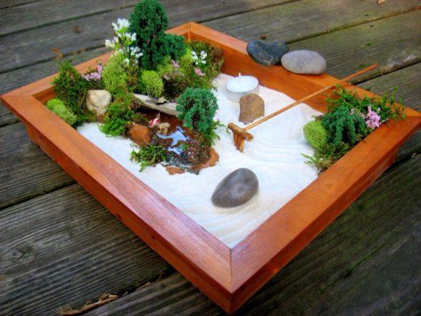 Миниатюрный сад камней