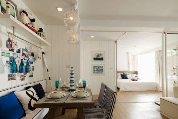 Дизайн столовой в морском стиле
