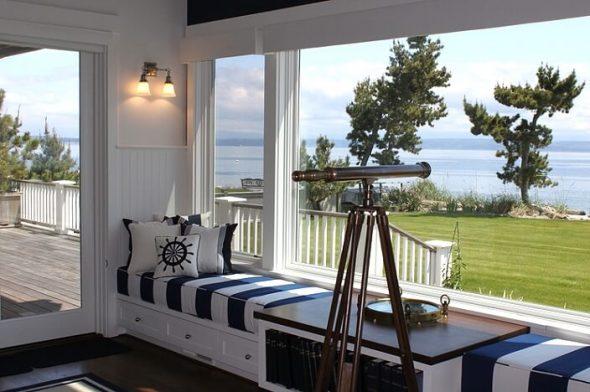 Интерьер загородного дома в морском стиле