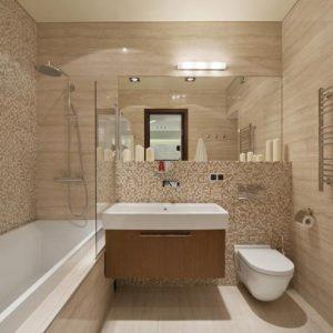 Отделка стен в ванной панелями ПВХ
