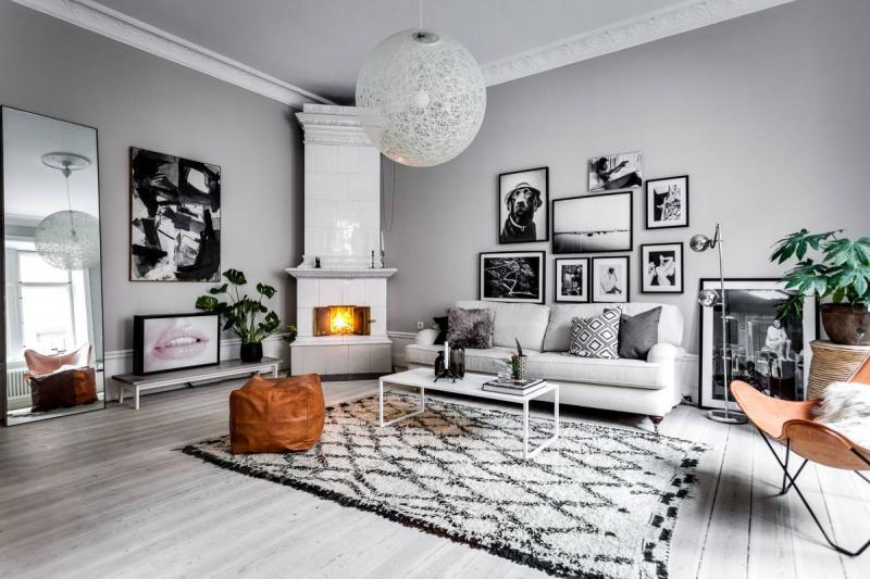 30 идей интерьера загородного дома в скандинавском стиле