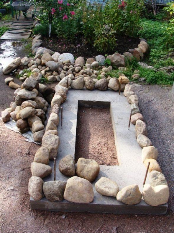 Бордюр из камня