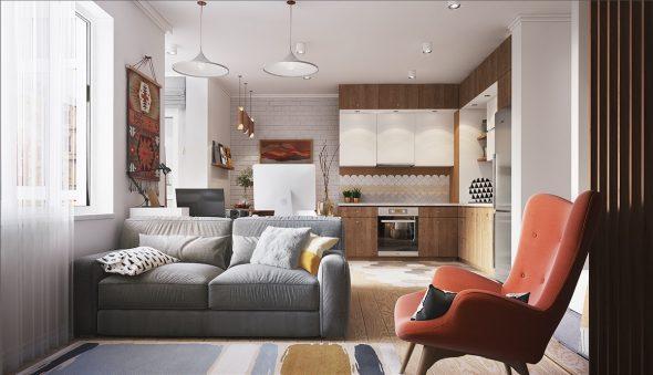 Дизайн квартиры 18 кв. м