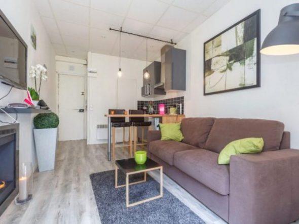 Планировка и дизайн квартиры 18 кв. м