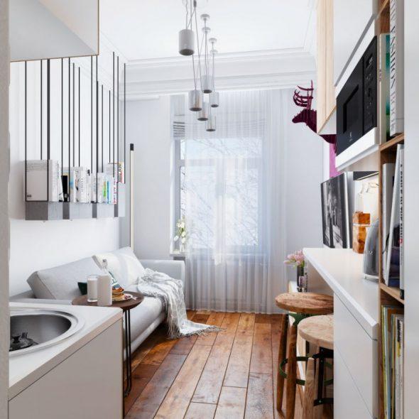Дизайн однокомнатной квартиры 18 кв. м