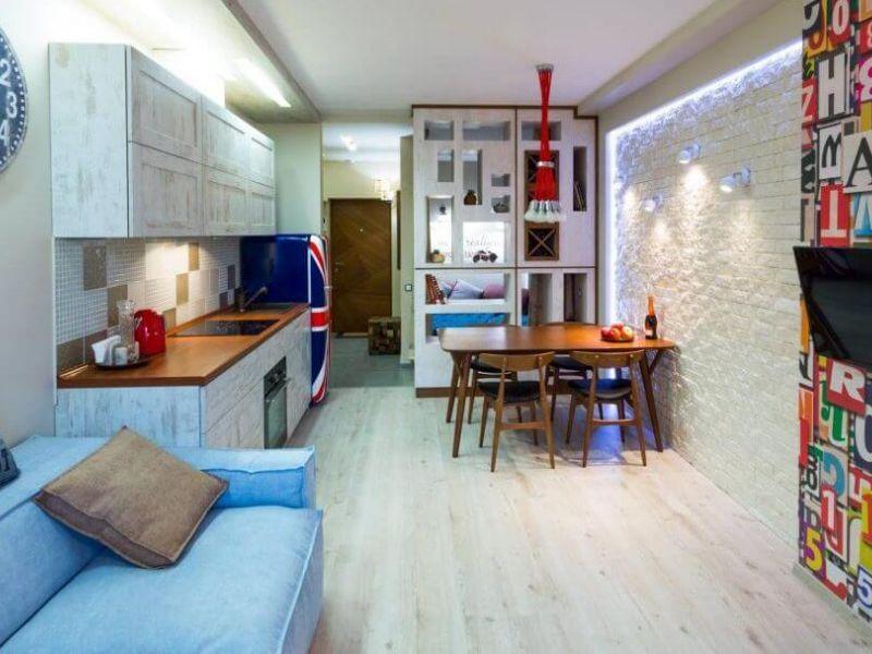 Решение есть: 35 идей дизайна однокомнатной квартиры 30 кв. м