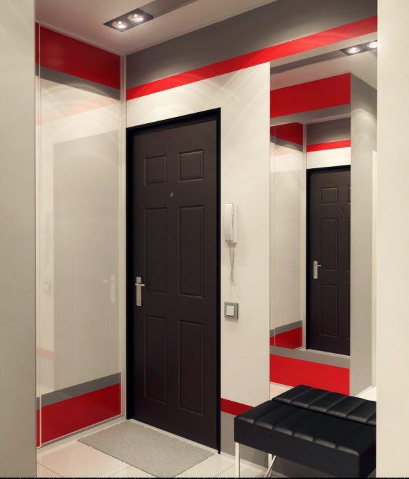 Дизайн коридора в однокомнатной квартире площадью 30 кв м