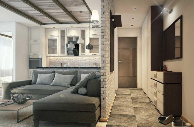 Решение есть: 35 идей дизайна однокомнатной квартиры 40 кв. м.