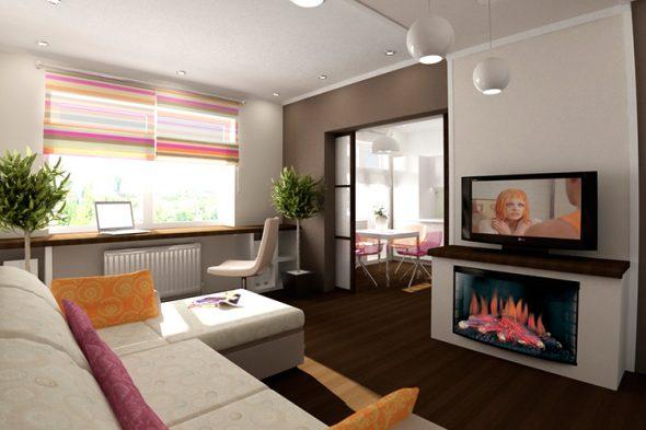 Планировка однокомнатной квартиры 40 кв м