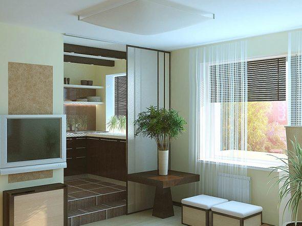 Дизайн гостиной в двухкомнатной квартире 40 кв м