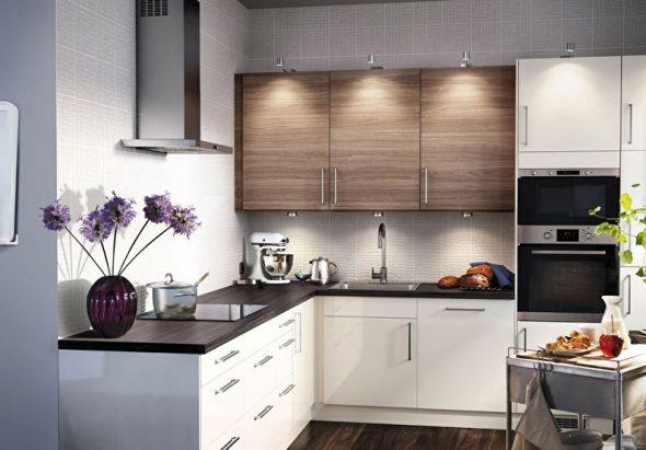 Дизайн кухни в двухкомнатной квартире площадью 44 кв м