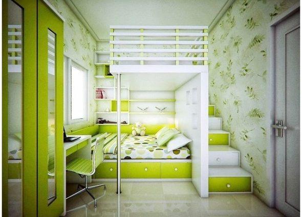 Дизайн детской в двухкомнатной квартире площадью 44 кв м