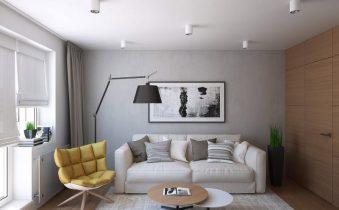 Дизайн-проект гостиной в двухкомнатной квартире