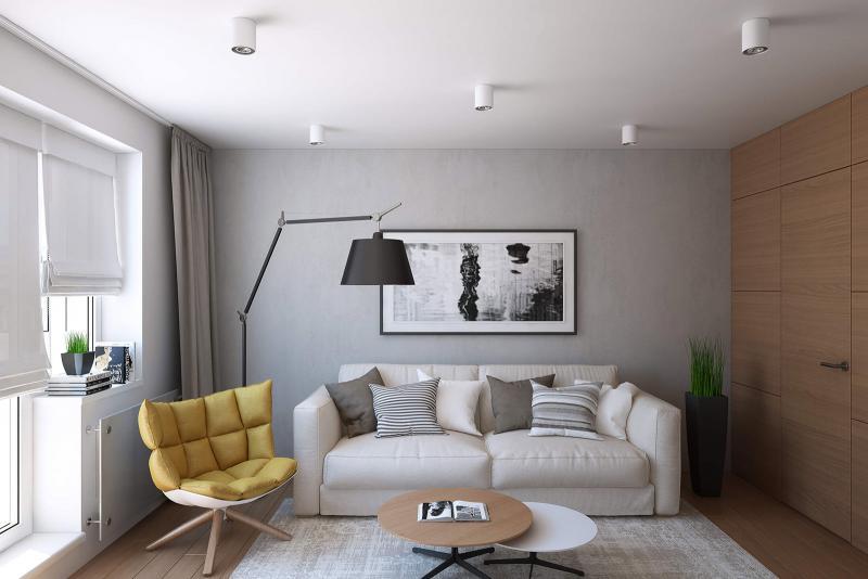 Решение есть: 40 идей дизайна двухкомнатной квартиры 44 кв. м