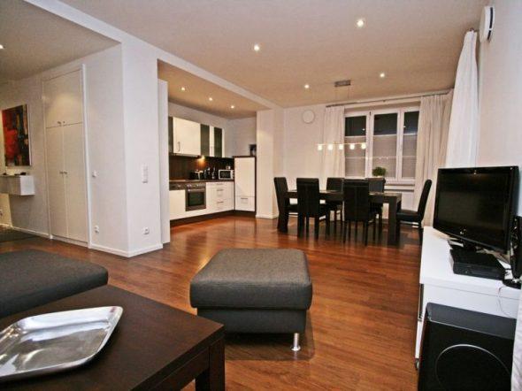 Дизайн двухкомнатной квартиры площадью 60 кв м