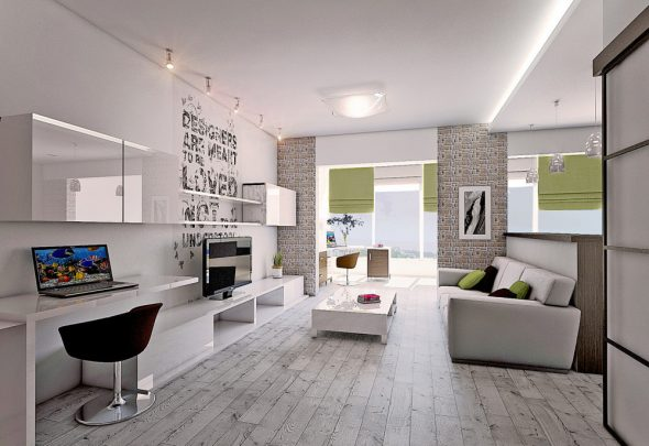 Дизайн двухкомнатной квартиры 60 кв м