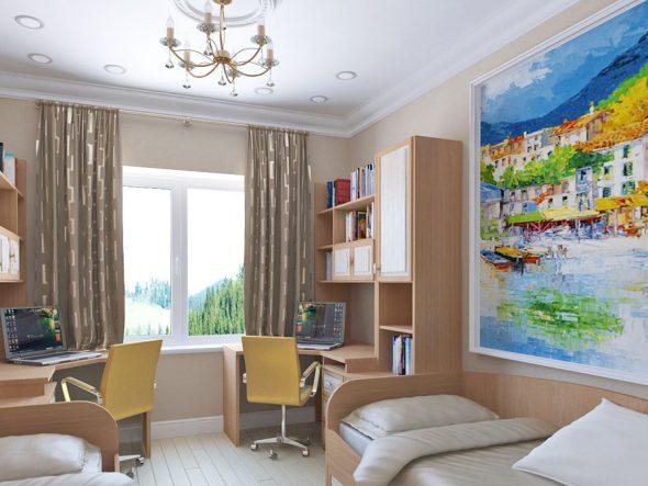 Дизайн детской в двухкомнатной квартире 60 кв м