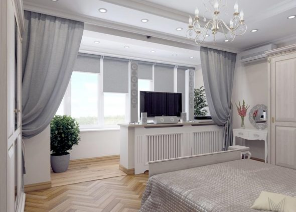 Дизайн спальни в двухкомнтаной квартире 60 кв м