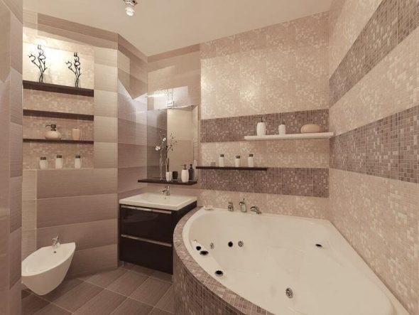 Дизайн ванной в двухкомнатной квартире 60 кв м
