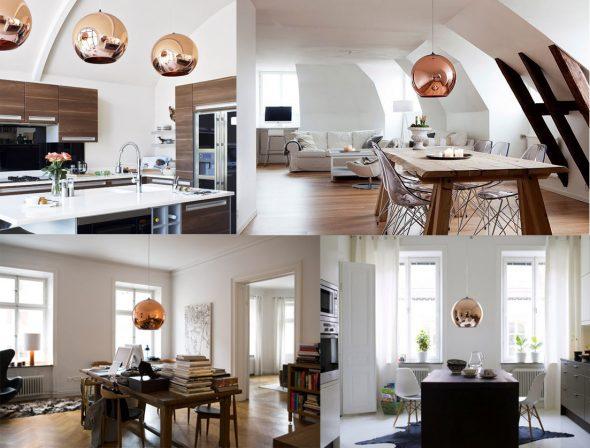 Подвесные люстры в интерьере квартиры