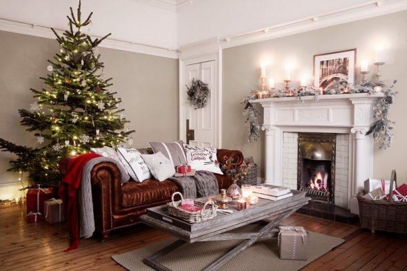 Новогоднее убранство гостиной