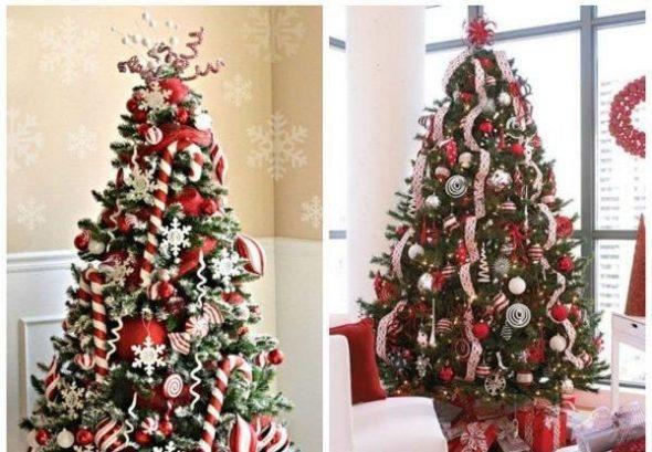 Рождественская ёлка с традиционным декором