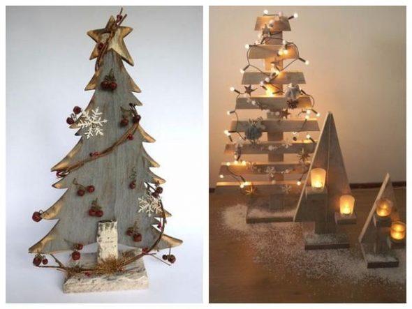 Идеи новогодних елок из фанеры