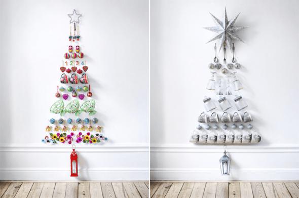 Новогодная елка для кухни на стене