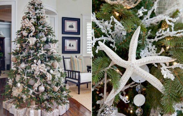 Белый декор для новогодней елки