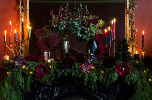 Новогодний декор в королевском стиле