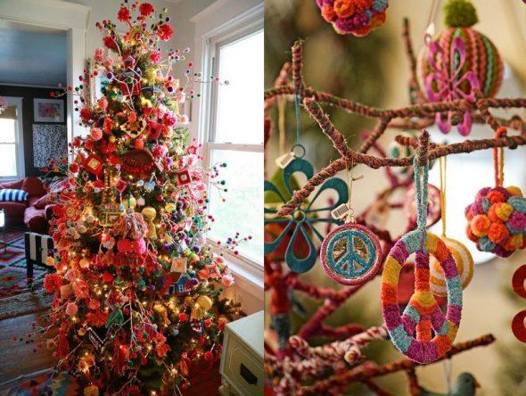 Новогодний декор в стиле бохо