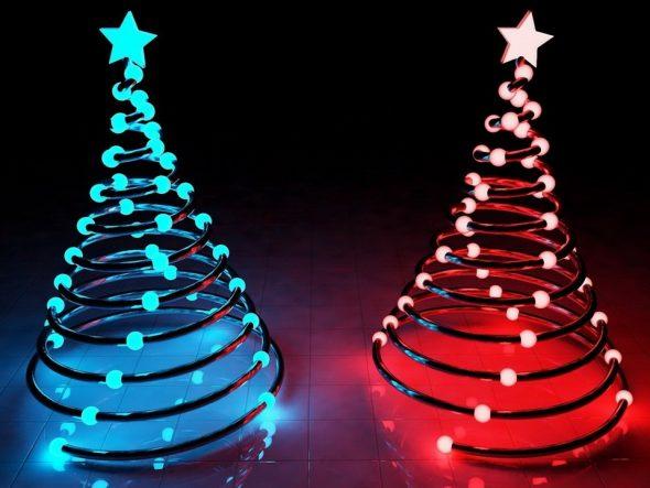 Альтернатива новогодней елке из спроволоки и светодиодов