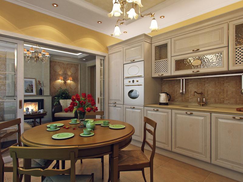 Правила дизайна кухни в частном доме