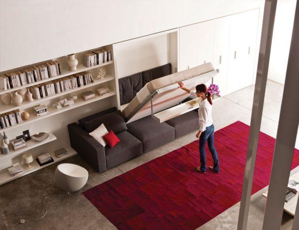 диван-трансформер в студии 25 кв м