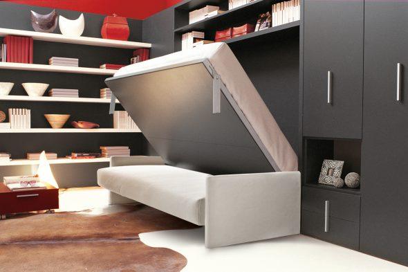 Раскладная кровать в студии 25 кв м