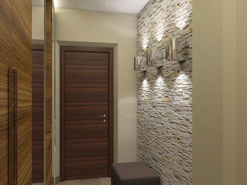 Идеи для отделки прихожей декоративным камнем и обоями: фото