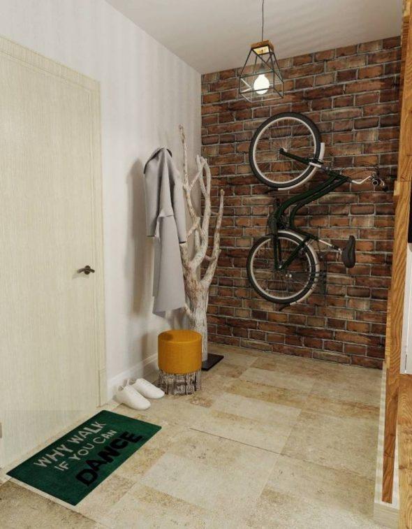 Велосипед на кирпичной стене