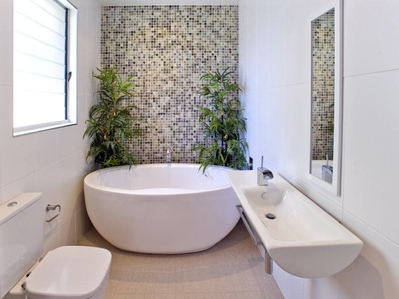 Мозаика в ванной комнате: фото вариантов дизайна