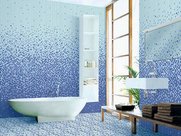 Проект ванной комнаты с отделкой мозаикой