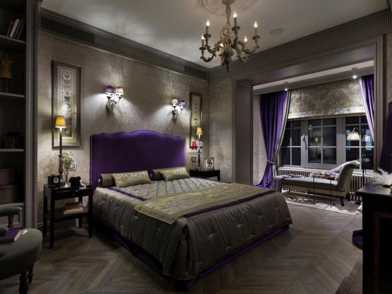 Неоклассика в интерьере спальни: фото