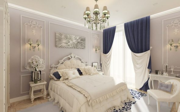 Спальня в неоклассическом стиле