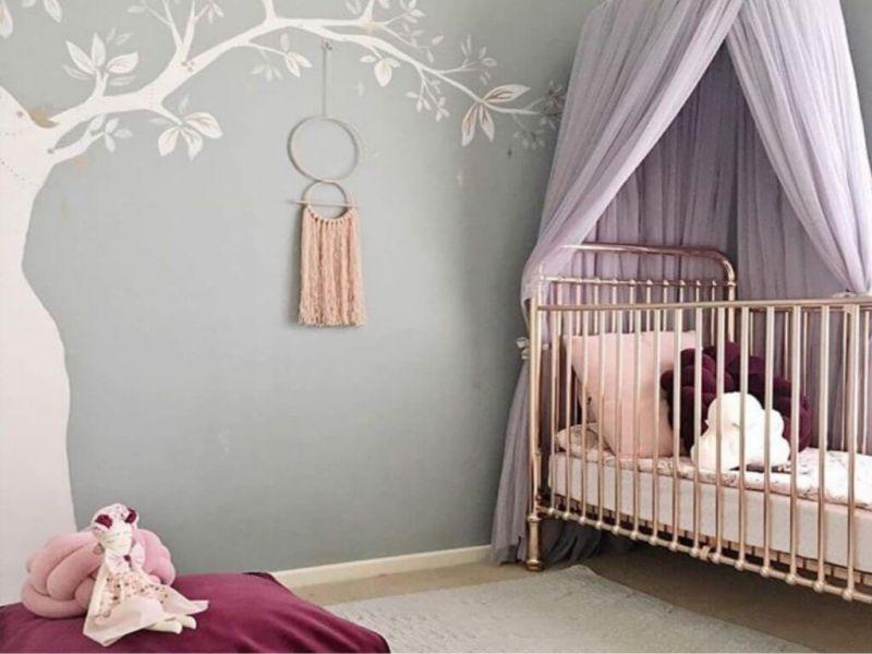 Балдахин на детскую кроватку своими руками