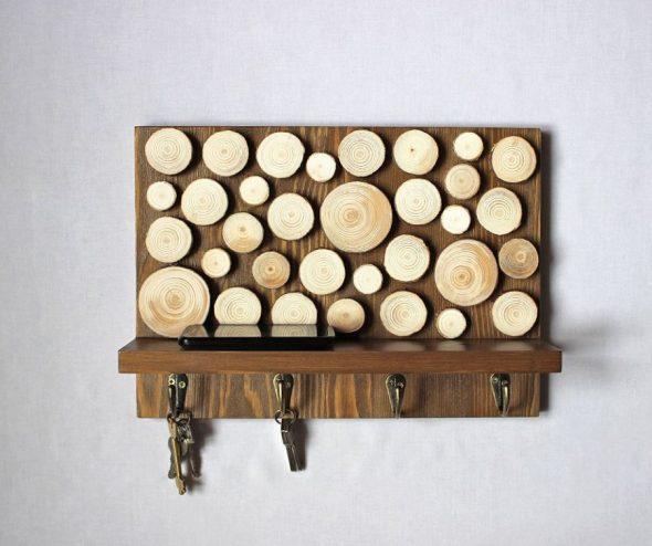 Деревянная ключница